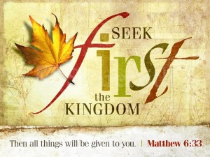 2011 seek first the kingdom